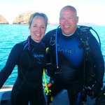 Mike and me after   (white-tipped reef shark) dive