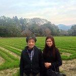 Mr Haraguchi and I in Arashiyama. Behind us is the Rakushisha Residence(500 yrs old hut)