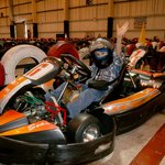 If you are over 8 you can go in one of these, but the electric kids kartz are great for younger