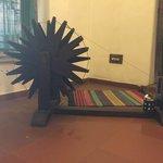 Cotton wheel in reception