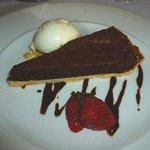 Bitter chocolate tart