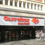 """It's across the street La Rambla, """"Carrefour"""" is located on the other side."""