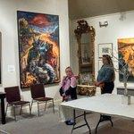 Ginny & Chris Admiring Mark Priest's Artwork