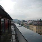 Blick von Dachterasse (vom Zimmer aus begehbar)