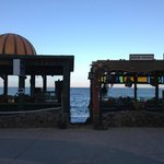 An exit from the dive centre on to the main walkway through Dahab…