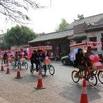 a wedding parade in Jianshui