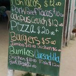 Reinas lunch menu