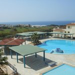 The main pool with view to Paphos harbour