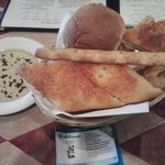 Cracker stick and breads in a basket
