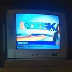 CRT TV with poor picture and sound