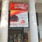 Entryway to Corus Hotel New Delhi