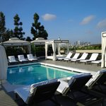 The rooftop pool area.