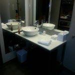 Clean restroom area