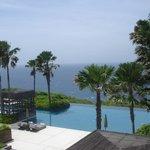 A view of Alila Villas Uluwatu main pool in Bali