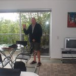 Lounge/dining area and my grandad