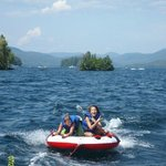 Lake George tubing off Juliana