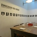 Cool room with tribute to Enologists of Chile