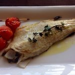 Lake fish with capers and lemon. Delicioso...