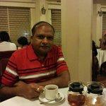 Enjoying niligiri tea