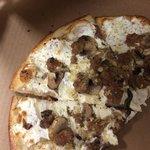 Garlic cheese base with Italian sausage and mushroom