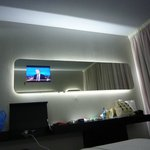 Great use of technology – loved the lights and TV set in the mirror