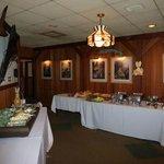 Banquet set-up at Hunter's Den