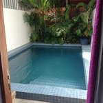 The private pool, accessible from the back of your room