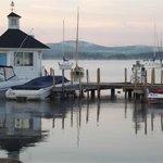 Peaceful morning on Wolfeboro Harbor