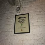 Prior cuisine awards displayed on the walls