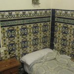 My room with tiles on the wall