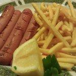 Wurstel e patatine fritte