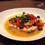 swordfish with tomatoes, capers and olives