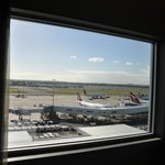 Room with a view - facing the runway. But excellent sound proofing, you hardly hear a thing!