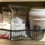 In-room coffee program (Starbucks Coffee & Tazo Tea)
