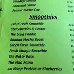 Some of da smoothies