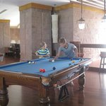 Pool table M floor