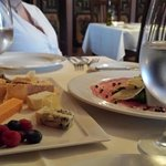 Cheese Plate and Carpaccio Appetizers