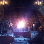 The roaring fire... far more impressive than this photo lets on