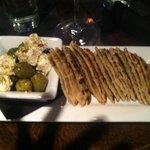 Olives, Feta, and LOTS of pita