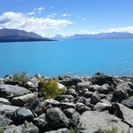 gorgeous turquoise Lake Tekapo or Pukaki enroute to Mt. Cook