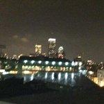 Nighttime terrace view
