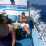 Comfy viewing spot on Captain Dan McSweeney's Whale Watching boat.