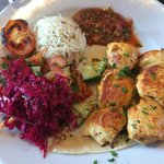Beautiful Chicken Shish at Red Mezze