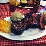 Full rack of ribs with sides