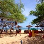playground/beach area
