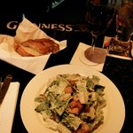 The Cesare salad.  The garlic bread is simply amazing with slivers of garlic in each piece.