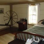 Room with spinning wheel