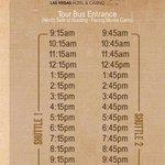 Shuttle times