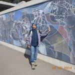 mural along UN front wall