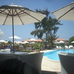 one of the pool /bar areas